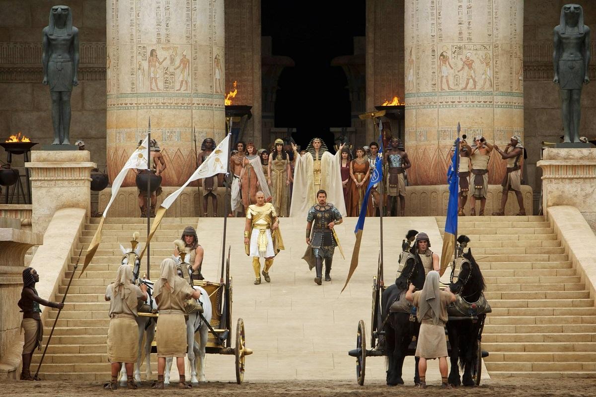 Exodo por y la ubicacion del rey donde fue filmado